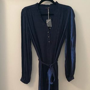 Bensimon Belted Dress. Navy, Size Small
